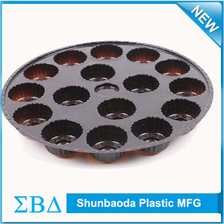 China supplier handled and glossy cupcake boxes, frosted pp blister packing for cupcake