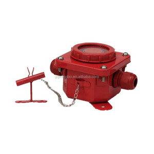 red color 250v 10A steel and nylon marine fire alarm warning push button DK7-2