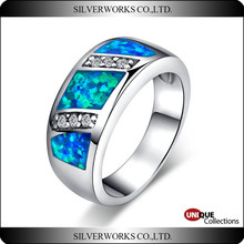 New Design Natural Amethyst Opal Ring 925 Sterling Silver friendship rings for party