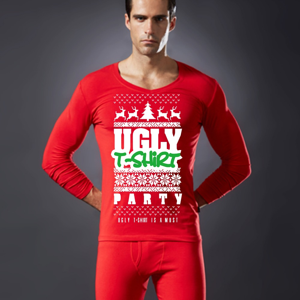 Customise Long Sleeve Thermal Underwear with Christmas Design