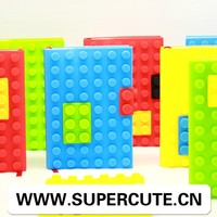 New design seven refreshing colors block silicone cover promotional notebook