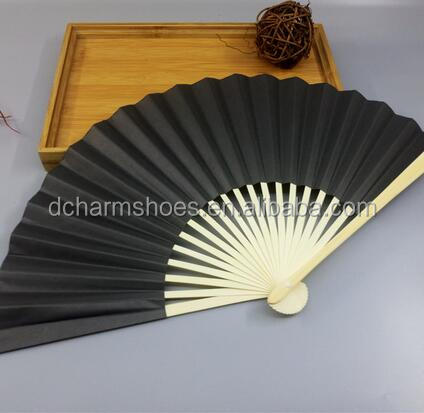 New selling small gift hand paper fans with picture logo