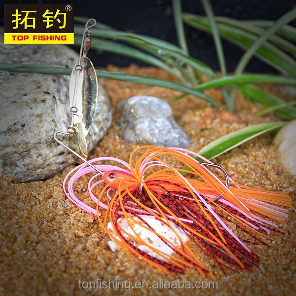 China fishing equipment artificial bait <strong>Q13</strong>-R01-7 spinner bait from china fishing shop