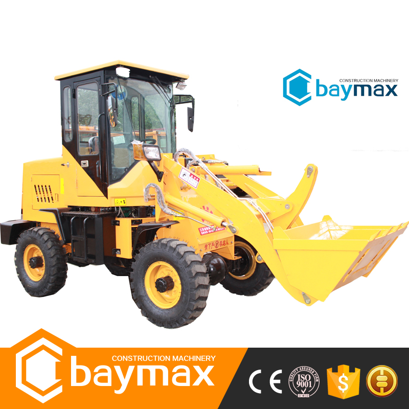 1 ton Mini ZL10 Wheel Loader Bucket Excavator
