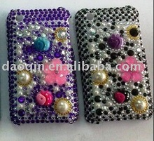 flower shape bling rhinestone crystal case