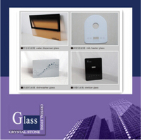tempered fireplace glass for range hood parts