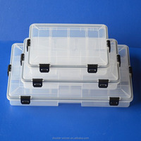 Clear Plastic Waterproof fishing tackle box