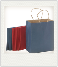 Custom suprior color kraft brown paper shopping gift bag with certificates ISO9001