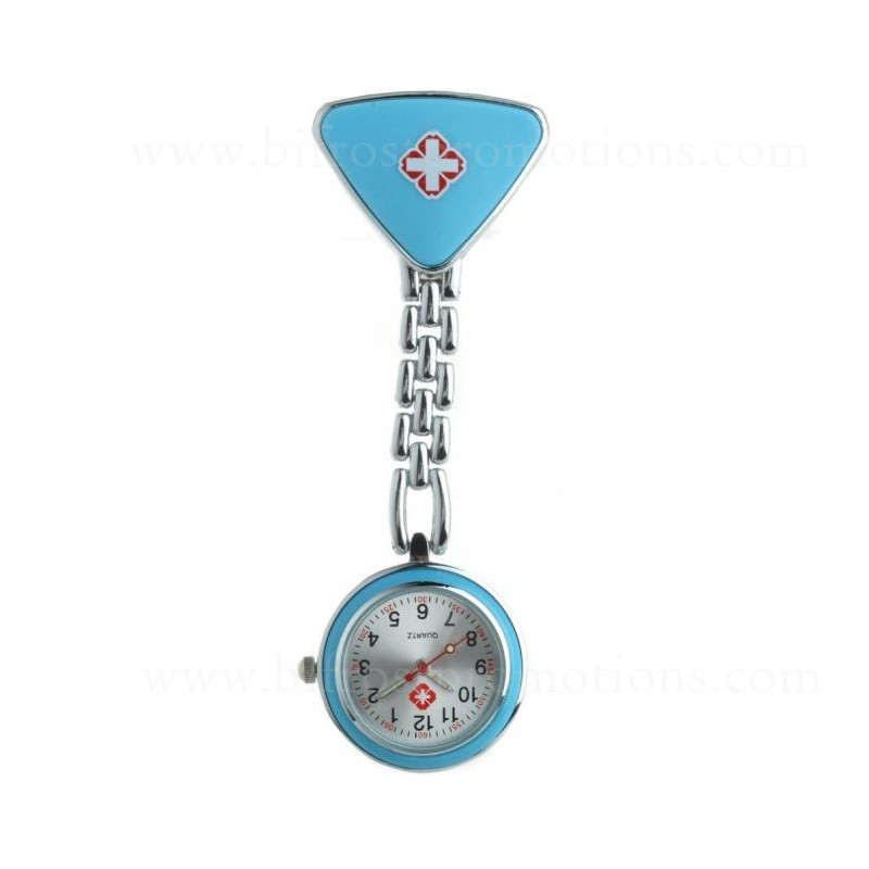 Triangle Shaped Hospital Promotions Nurse Metal Pocket Watch