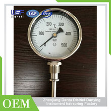High Quality Steel Back Pressure Thermometer Temperature Gauge With Bottom Connection
