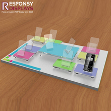 Acrylic Counter-top Cellphone Holder Display Rack For Mobile Phone