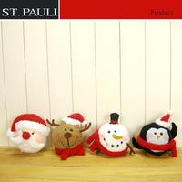 customize hot item christmas holiday tree decoration santa reindeer snowman penguin styrofoam head with face