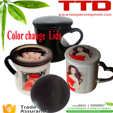 sublimation thermal Magic gift 11oz hot water heat sensitive color changing mugs ,magic lids covers