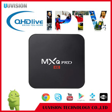 One Year 2400+ IPTV Subscription Android Smart TV Box MXQ PRO 4K with Amlogic S905X Quad core