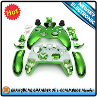 For XBOX ONE Controller shell, replacement housing for Xbox one shell green customzied chrome
