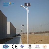 rust and corrosion preventing processed street lighting pole with solar powered led light new energy poduct energy saving