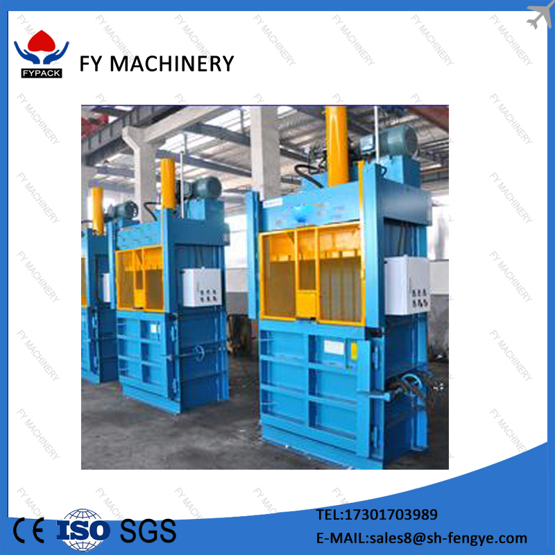 Small hydraulic baling machine for waste clothing and carton for sale