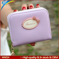 Korea style latest hotsale sweet mini coin wallet Id card purse size credit card pouch