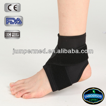 Neoprene adjustable ankle support cross over straps open toe and heel design
