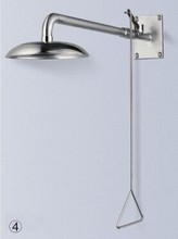 stainless steel combination eyewash and shower station