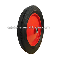 14 inch solid rubber wheelbarrow wheel made in qingdao