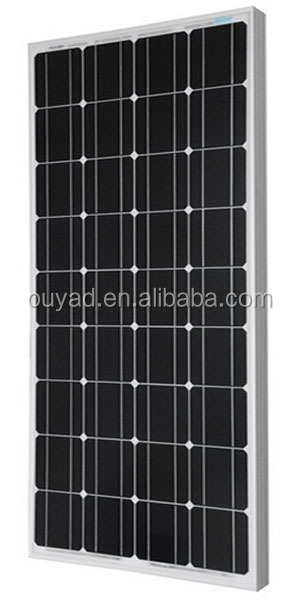 High efficiency 100W Mono solar panel for solar power system 100W solar panel