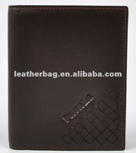 2015 new design brown color 2 fold teen wallet leather men