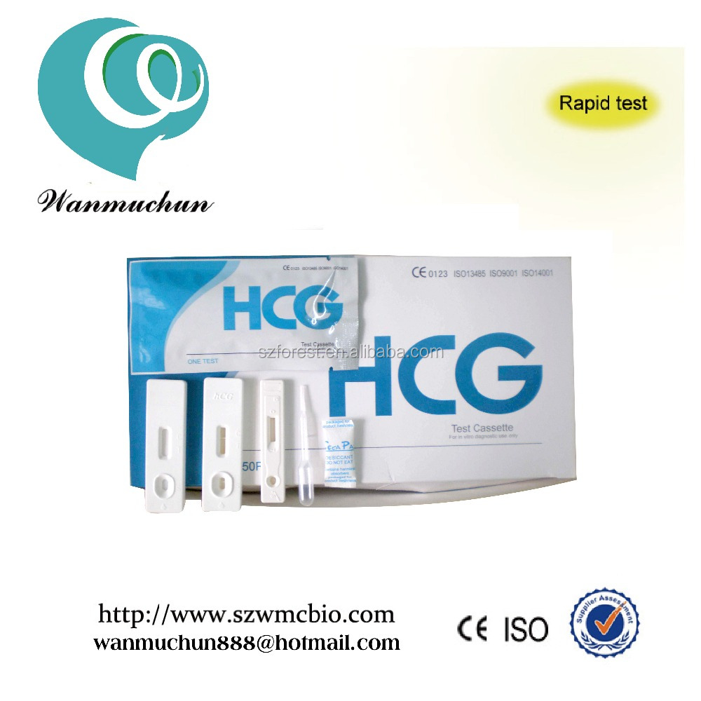 type pathological analysis equipments hcg pregnancy test cassette