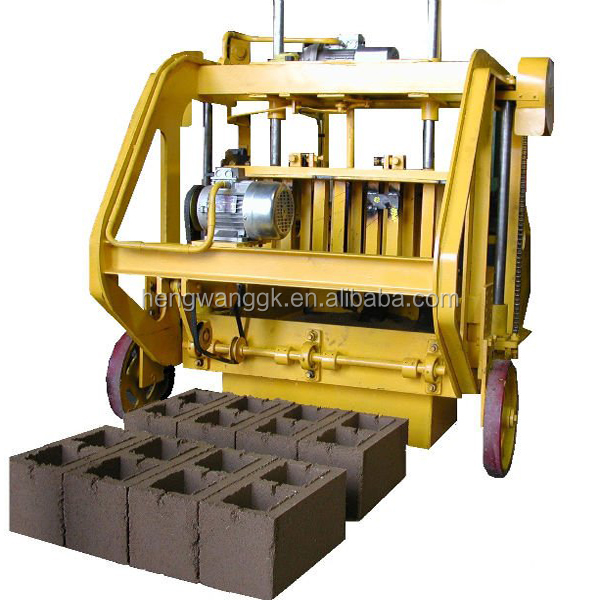 cheap price whole sale manual brick making machine/small brick machine/ moving hollow brick