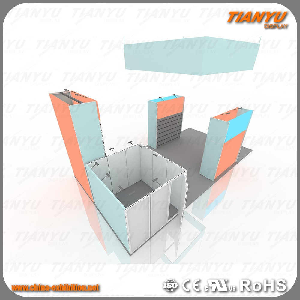 Professional custom 6x6 [20x20] feet exhibition aluminum trade show booth