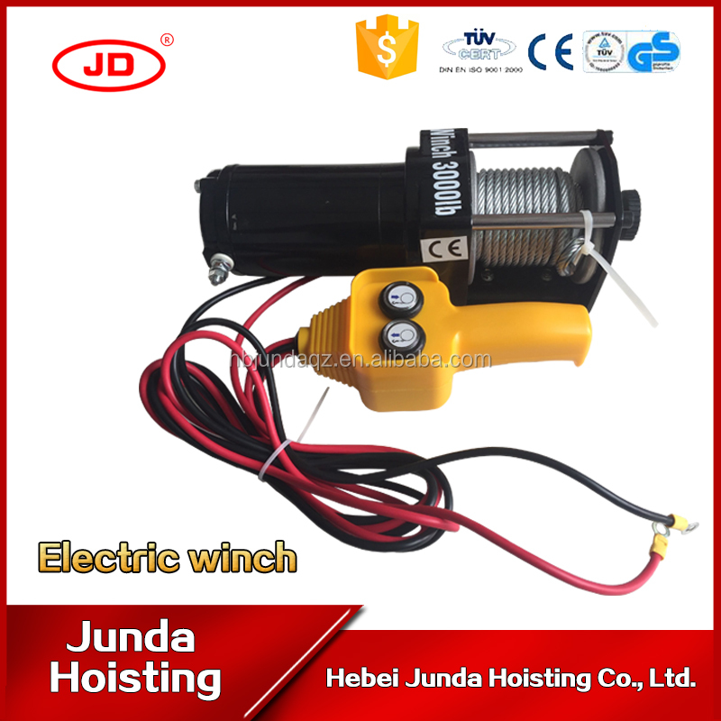 high speed dc 12v 24v electric winch