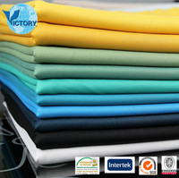 Polyester/Spandex Punto Roma Plain Dyed Fabric for Cloth