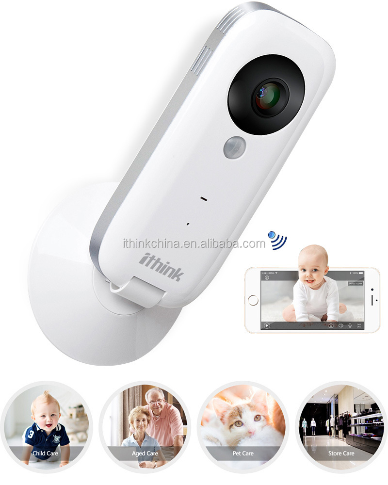 User-friendly super clear video ip cam with unique double alarm functions