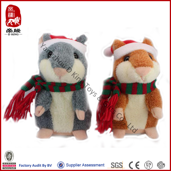 China wholesale christmas toy stuffed talking plush hamster toy for kids