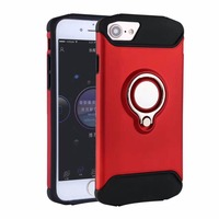 2018 Shockproof Metal Combo Hybrid Armor Magnetic Car Ring Holder Kickstand Phonecase Phone Case For iPhone X 8 7 6 5 5S SE Plus