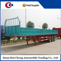 40ft Flatbed Container Detachable Semi Side Wall Panels Open Trailer
