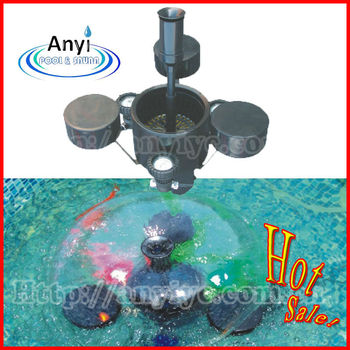 Hot sale pond equipment with float fountain and skimmer for Pond accessories for sale