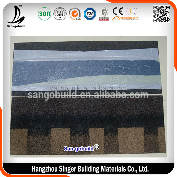 Wooden House Type Of Cheap Asphalt Roof Tile , Roof Shingles