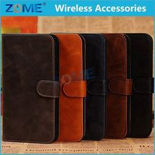 China Price Luxury Magnetic Mobile Phone Flip Cover Stand Wallet Leather Case/Cover For Samsung Mega5.8 I9108 I9152