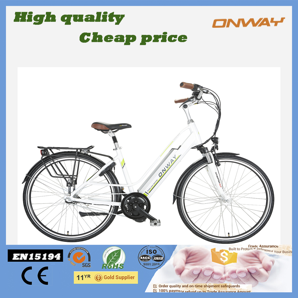 Chinese Manufacturer 700C 36V250W Middle Motor Electric City Bike With Integrated Battery And Nexus Inner 3 Speed