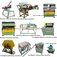 Bamboo Toothpick Making Machine / Toothpick Making Machine Line For Sale