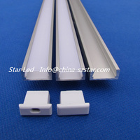30pc(30m)/pack;1m 40inch per piece Aluminum profile sliding windows for led bar housing ;Alu led profile QC1607-1M