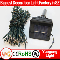 Outdoor Solar panel Powered Light 12M 100 LED Garden waterproof Christmas Party String Fairy Decoration LED light