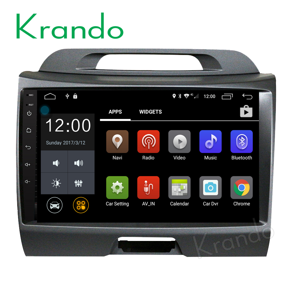 "Krando Android 7.1 9"" full touch screen car dvd gps navigation for kia sportage 2010-2014 car radio 2G RAM Wifi SW KD-KS812"