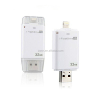 Plastic Material and No Encryption OTG Usb flash drive for iphone 64GB 32GB,128GB IFLASH DRIVE