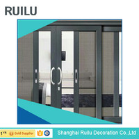 Electrophoresis aluminium sliding glass door design China supplier
