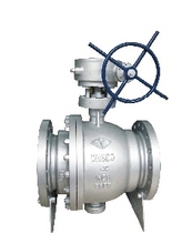 API CAST STEEL TRUNNION TYPE BALL VALVE ASTM A 216 WCB FLANGE END