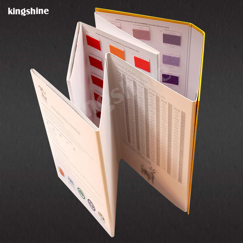 2017 newest beautiful design cashmere color shade card swatch card