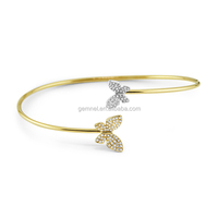 Gemnel jewlery butterfly indian diamond bangle designs