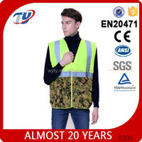 cheap reflective safety straps work vest for man